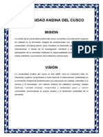 Mision y Vision Uac