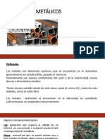 Clase Materiales Metálicos