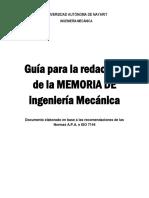 Guia para memorias de trabajo