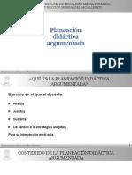 PLANEACION DIDÁCTICA ARGUMENTADA