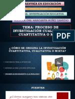 Proceso de Investigación Cualitativa, Cuantitativa o Mixta