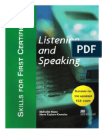 Mann Malcolm Skills for First Certificate Listening and Spea SB