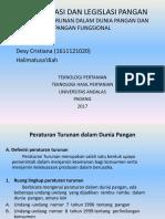 Standarisasi Dan Legislasi Pangan 1