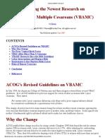 Newest VBAMC Research