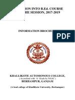Khallikote College Information Broucher