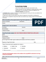 Verge Permit Application Form