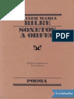 Sonetos a Orfeo - Rainer Maria Rilke