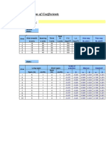 Calculation of Coefficients