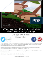 Jungle Animal Sensory Set