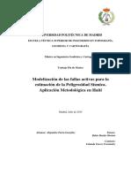 (Parra, A). Modelización de Las Fallas Activas Para La Estimación de La Peligrosidad Sísmica Aplicación Metodológica en Haití