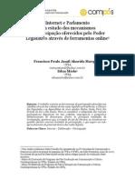 Internet e Parlamento Um estudo dos mecanismos de participação oferecidos pelo Poder Legislativo através de ferramentas online
