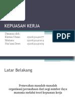 Kepuasan Kerja (Presentasi)