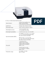 V 770 UV Visible Spectrophotometer