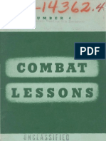 Army Combat Lessons ~ Apr 1942