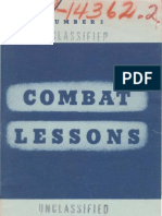 Army Combat Lessons ~ Feb 1942