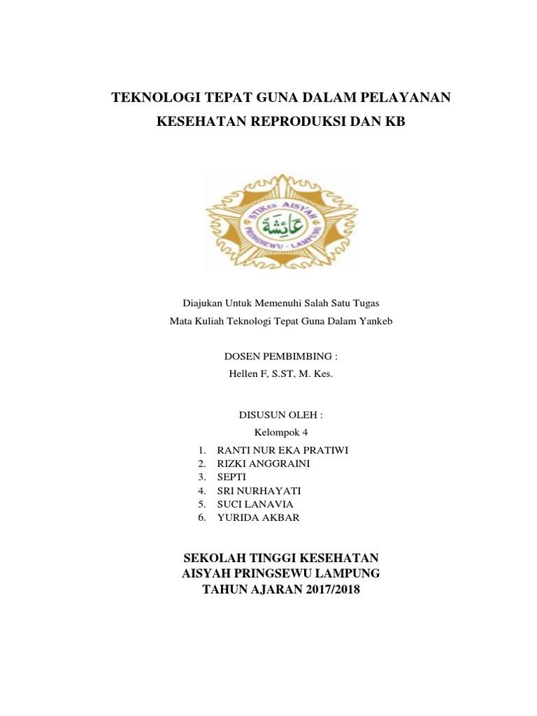 Kelompok 4 Teknologi Dalam Pelayanan Kesehatan Reproduksi Dan Kb