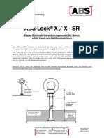 ABS Lock X Anleitung