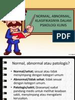 3 Konsep Normal Dan Abnormal Klasifikasi Gangguan Jiwa