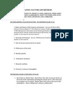 Valuation Factors&Methods