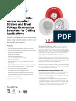 Indoor Ceiling Speakers SpeakerStrobes DataSheet AVDS111