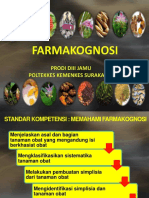 FARMAKOGNOSI 2017 PENDAHULUAN