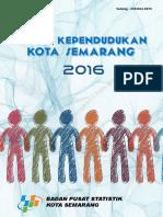 Profil Kependudukan Kota Semarang 2016