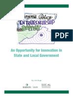 Virginia Policy Entrepreneurship Retreat - John Kluge