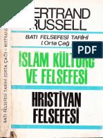 Bertrand Russel - Batı Felsefesi Tarihi 2 - Orta Çağ - İslam Ve Hristiyan Felsefesi-Kitaş Yay-1969-Cs