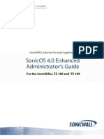 SonicOS Enhanced 4 0 TZ 180 190 Administrators Guide