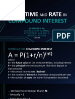 Solving Time and Rate in Compound Interest