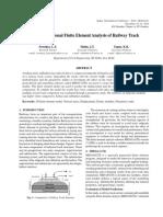 3D FEA of Railway Track-IIT Delhi