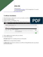 PF Sense Setup Open VPN