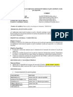Elaboración de Un Suplemento Nutricional de Quinua en Polvo Mediante Secado Por Aspersión.