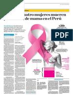 Cada Día Cuatro Mujeres Mueren Por Cáncer de Mama en El Perú