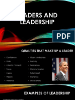 examples of leadership - what makes a leader