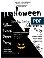 hallotween dance 2017 - flyer