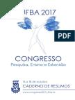 Congresso Ufba Caderno Resumos 2017
