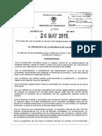 Decreto 1079 Del 26 de Mayo de 2015