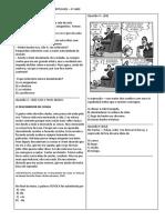 Atividades Avaliativas de Portugues I