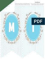 Banderines Letras TEXTO EDITABLE