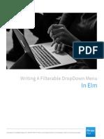 Writing a Filterable Dropdown Menu in Elm