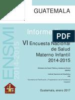 Encuesta Nacional de Salud Materno Infantil 2014-2015