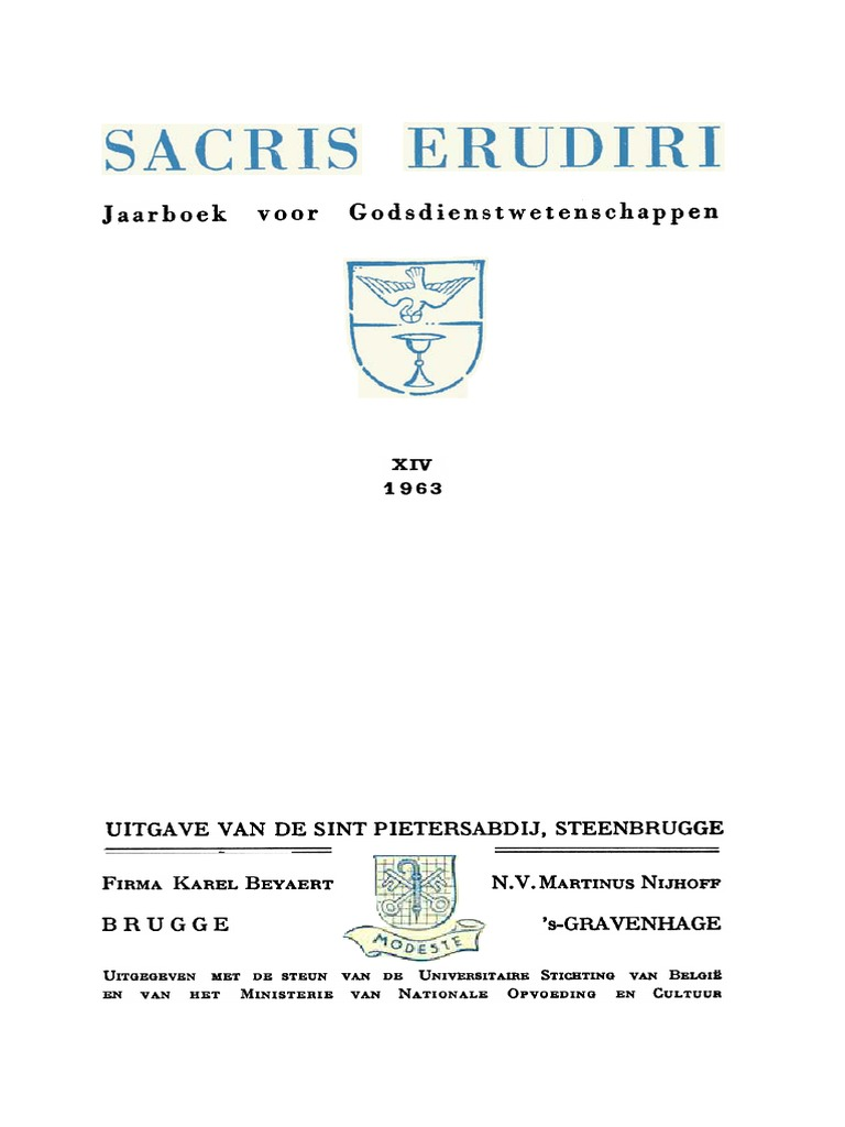 Sacris Erudiri - Volume 14 - 1963.pdf