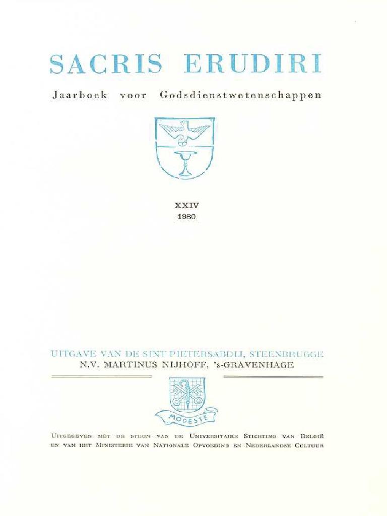 Sacris Erudiri - Volume 24 - 1980.pdf