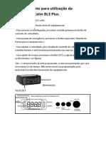 Procedimento Para Utilização Da Centrifuga Celm BL3 Plus
