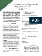 I1 Regresión Lineal de Resortes y Burbuja en Aceite