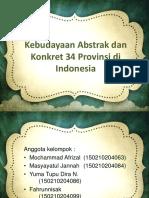 Kebudayaan Abstrak Dan Konkret 34 Provinsi Di Indonesia
