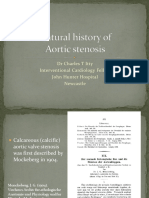 Natural History of Aortic Stenosis
