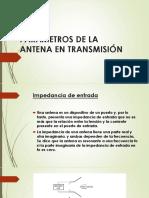 Parámetros de La Antena en Transmisión