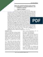 BENIFICIAL EFFECT OF ALLIUM SATIVUM AND ALLIUM TUBEROSUM ON EXPERIMENTAL HYPERLIPIDEMIA AND ATHEROSCLEROSIS